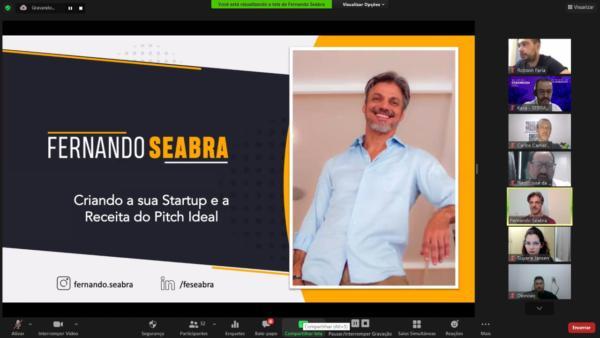 Fernando Seabra, especialista em inovação, startups e Empreendedorismo, ministrou o evento.